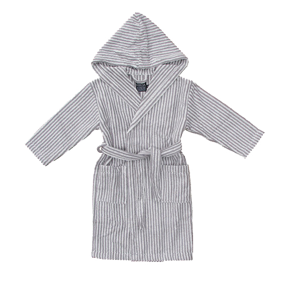 biggest selection limited price new concept Children's hooded bathrobe, grey/ white
