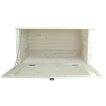 Basket chest, open front, white