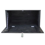 Basket chest, open front, black
