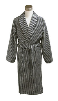 Bathrobe, black/sand