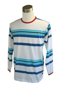 Tricot shirt, white/ blue/ l.blue