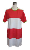 Ladies' shirt, red/ white