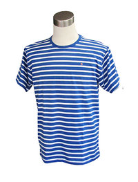 Men's t-shirt, blue/ white