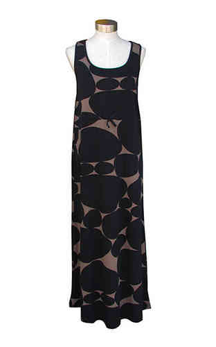 Women's maxi dress, black/ beige