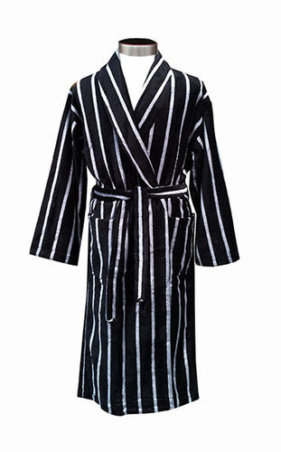 Men´s bathrobe, black/ grey