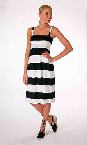Tricot dress, black/ white