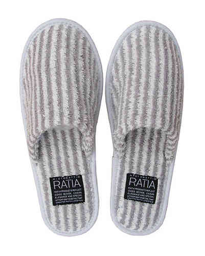 Bath slippers, grey/ white