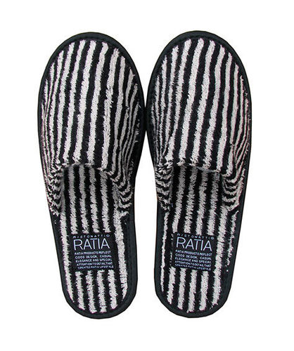 Bath slippers, black/ sand