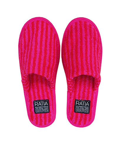 Bath slipper, red/ dark red