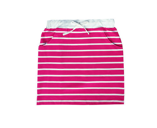 Skirt, fuchsia/ white