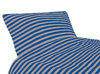 Tricot bedding, blue/ brown