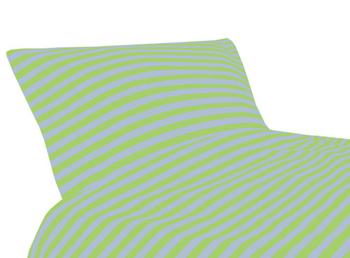 Tricot bedding, lime/ grey
