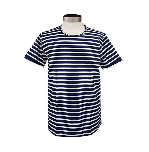 Men's T-shirt, dark blue/ white