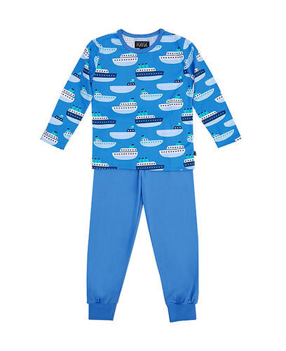 Children's pajamas, light blue/ dark blue/ white