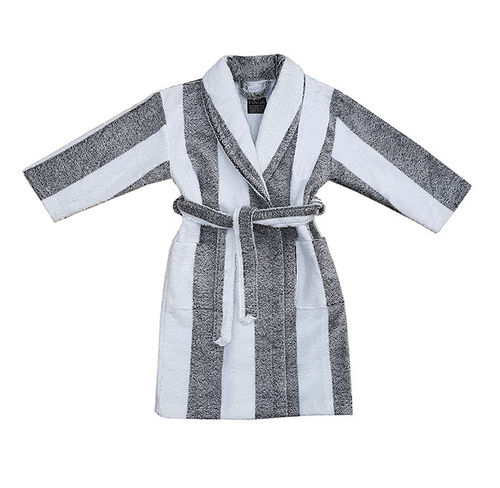 Children's bathrobe, black/ white