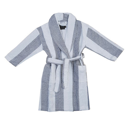 Children's bathrobe, grey/ white
