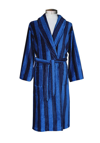Men's bathrobe, blue/ dark blue