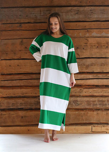 Women's leisurewear and nightdress, green/ white