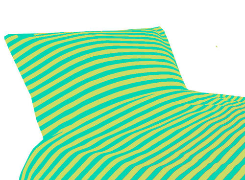 Tricot bedding, green/ turquoise