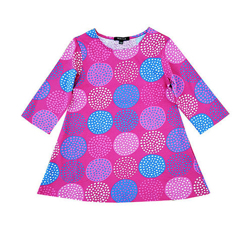Children's tunic, pink/ blue/ white