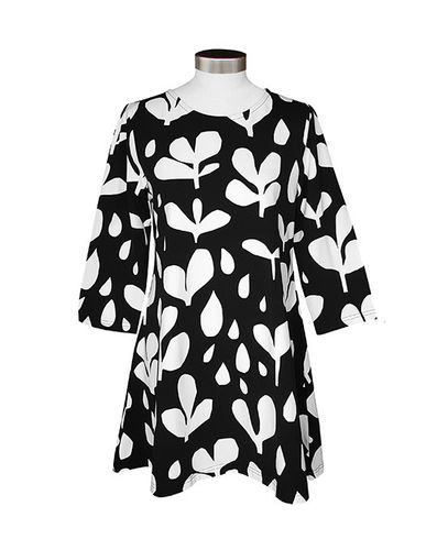 Tunic, black/white