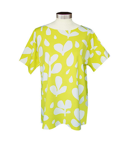 Women's tricot shirt, yellow/ white