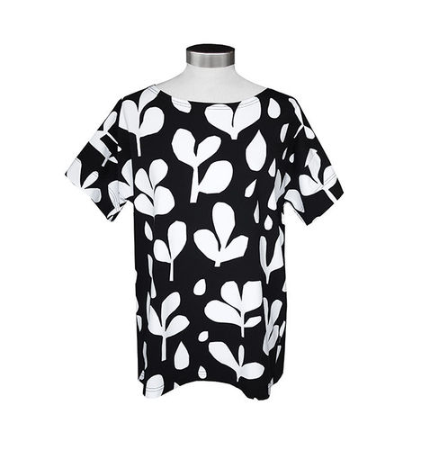 Women's tricot shirt, black/ white