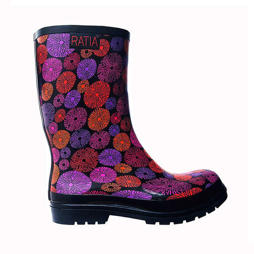 Rubber boots, black/ multicolour