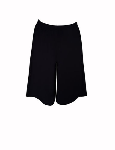 Tricot pants short, black