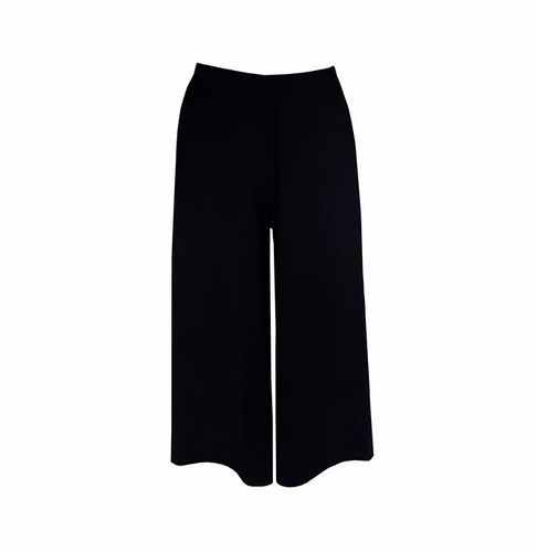Tricot pants long, black