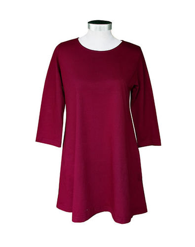 Tunic, wine red
