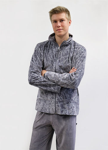 Men's leisurewear, grey/ white