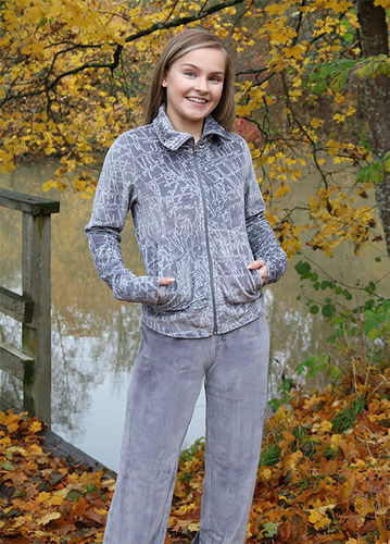 Women's leisurewear, grey/ white