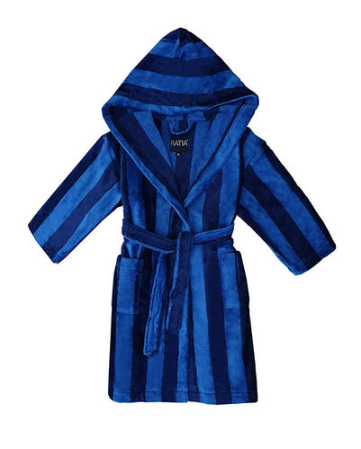 Children's bathrobe, blue/ dark blue