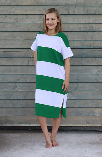 Women's leisurewear and pajamas, green/ white