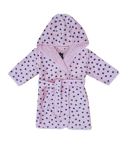 Children's bathrobe, pink/ blue