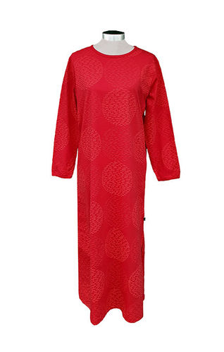 Women's nightdress, red/ red