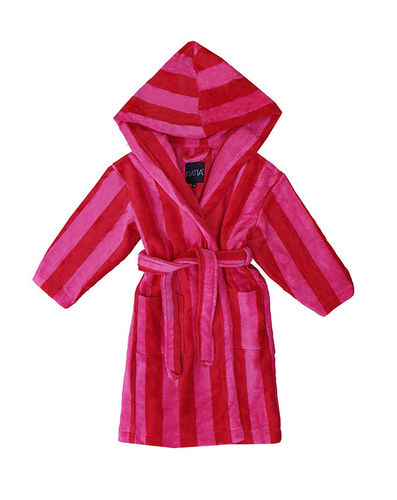 Children's bathrobe, red/ pink