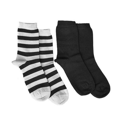 Cotton socks 2 pcs, black/ sand and black