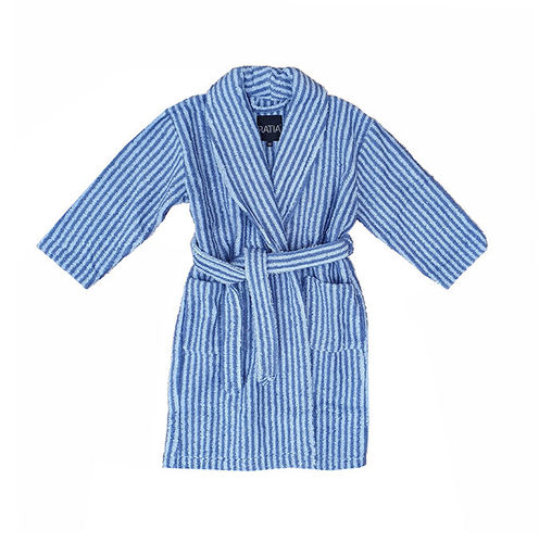 Children's bathrobe, blue/ grey
