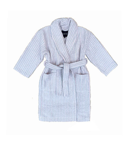 Children's bathrobe, pink/ grey