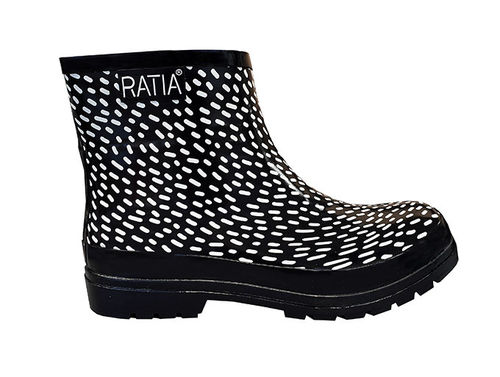 Rubber boots, black/ white