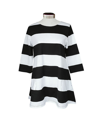 Tunic, black/ white