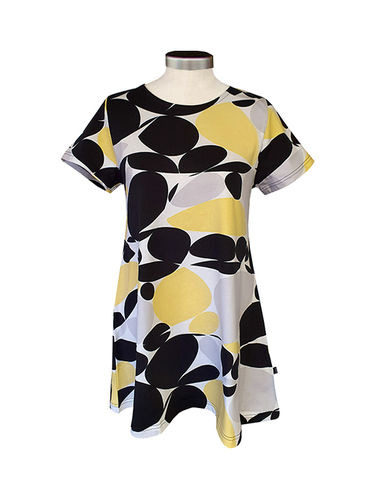 Women´s T-shirt, black/ grey/ white/ yellow