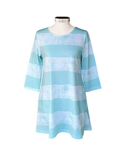 Tunic, mint/ white