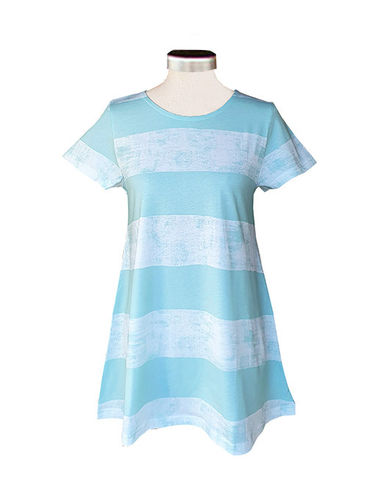 Women's T-shirt, mint/ white
