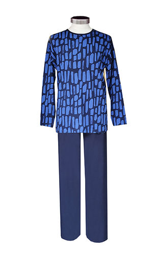 Men's pajamas, blue/ dark blue